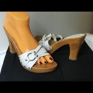 Nice white wood heels